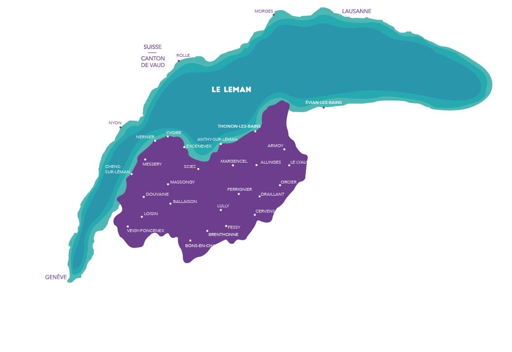 Carte du Lac Léman